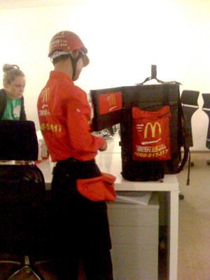 Delivery and I'm lovin' it